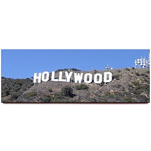 (Hollywood Sign panoramic fridge magnet Los Angeles California travel souvenir)