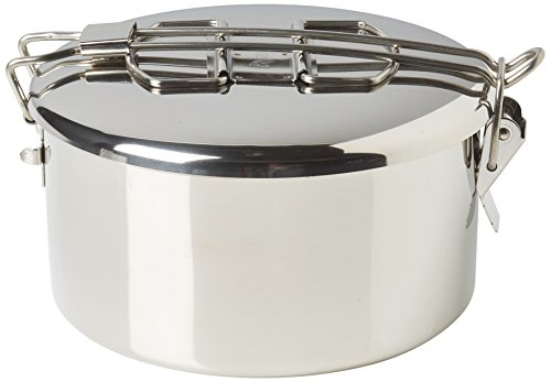 Wide Zebra - Zebra 152314 Stainless Steel Food Box and Pan with Snap on Lid, 14cm, Silver