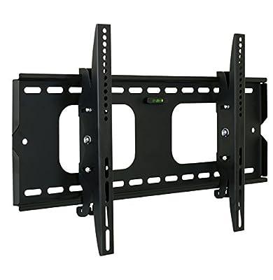 Mount-It! MI-303B Premium Tilting TV Wall Mount Bracket for 32 - 60 inch LCD, LED, or Plasma Flat Screen TV - Super-strength Load Capacity 175 lbs - 15 Degree Tilt Mechanism Up & Down, Max VESA 600x400