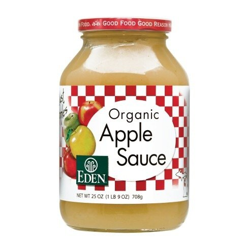 Organic Apple Sauce Eden Organic 25 oz Glass Jar