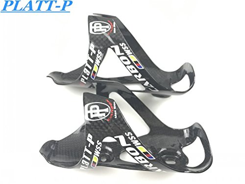 - Platt WSS-P Complete Carbon Fiber In Potable Bottles Cage ATV/Road Bike Bicycle Bottle Holder From 3 K 30g MHL18 (Black Glossy)
