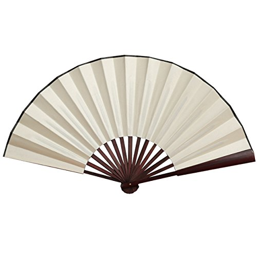 Folding Fan China Fan,Hand Fans with Traditional Chinese Arts (Cream)13inch]()