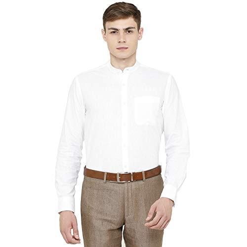 CAVALLO by Linen Club White Coloured Mens Formal Shirt