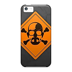 Cases mobile phone carrying covers High Grade Cases Protection iPhone 5c - breaking bad skull