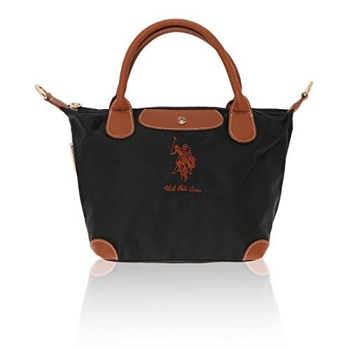 24 S Sac pour Noir Polo Assn à main cm femme U 36x25x14 qagd8w8