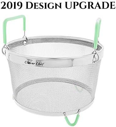 Instant Pot Steamer Basket 6 Quart - PREMIUM HEAVY DUTY Instapot Compatible Steam Basket, Stainless Steel Vegetable Steaming Basket. Instant Pot Insert 6 Qt Accessories, Pressure Cooker Accessories