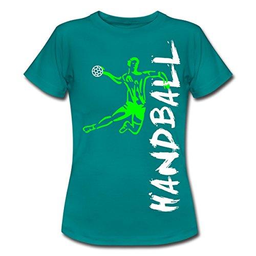 Handball Frauen T-Shirt von Spreadshirt®, S, Divablau