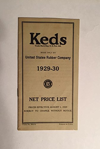 1929-30 Keds United States Rubber Company Net Price List : Vintage Antique Sneakers Basketball