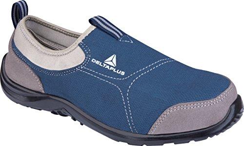 Delta Plus Arsenaal Miami S1p Blauwe Canvas Slip Op Staal Veiligheid Teen Trainers Sneakers