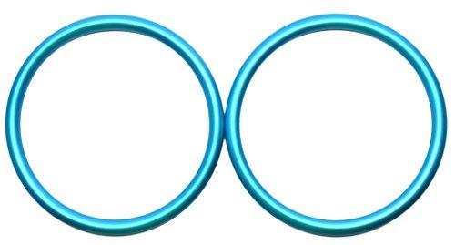 Sling Pattern Infant (Roo Threads Aluminum Rings for Baby Slings, Aqua)