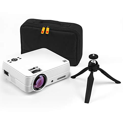 "KODAK FLIK X7 Home Projector (Max 1080p HD) with Tripod, & Case Included | Compact, Projects Up to 150"" with 720p Native…"