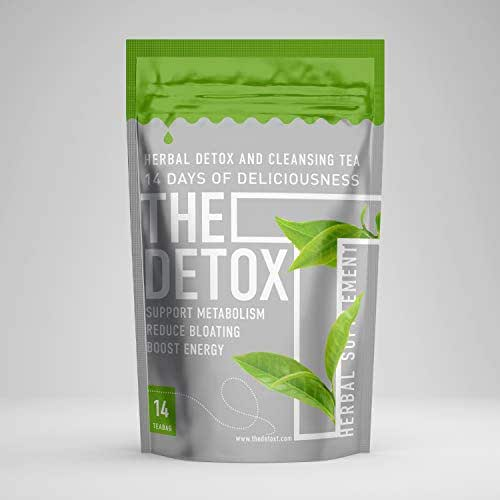 The Detox Tea Herbal Blend (14-Day Cleanse) Natural Matcha Green Tea, Oolong, and Garcinia Cambogia | Caffeine Energy, Metabolism Booster | Help Relieve Gas, Bloating