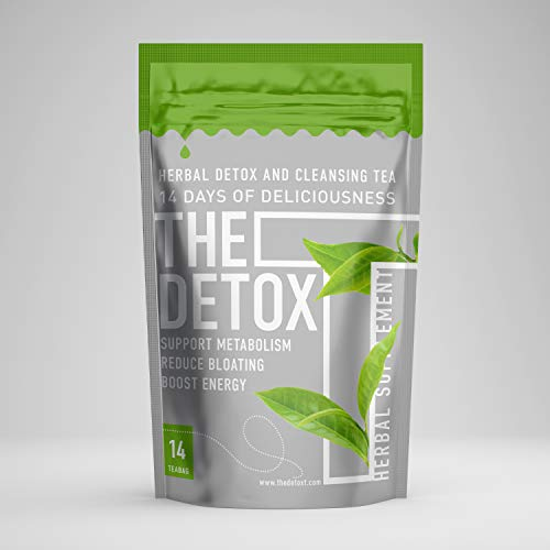 The Detox Tea Herbal Blend (14-Day Cleanse) Natural Matcha Green Tea, Oolong, and Garcinia Cambogia | Caffeine Energy, Metabolism Booster | Help Relieve Gas, Bloating (Natural Garcinia Cambogia And Natural Colon Cleanse)
