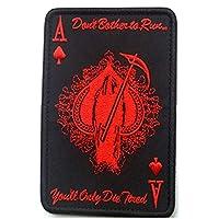 RoadRoma Death Card Rectangular Patch Embroidery Spade Una