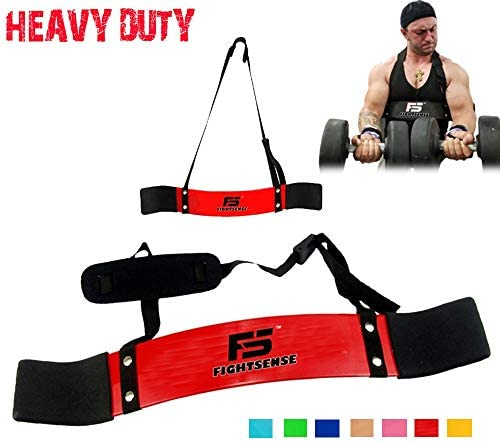 FIGHTSENSE Arm Blaster Biceps Curl Triceps Muscle Isolator Bomber Fitness Gym Workout Training Support