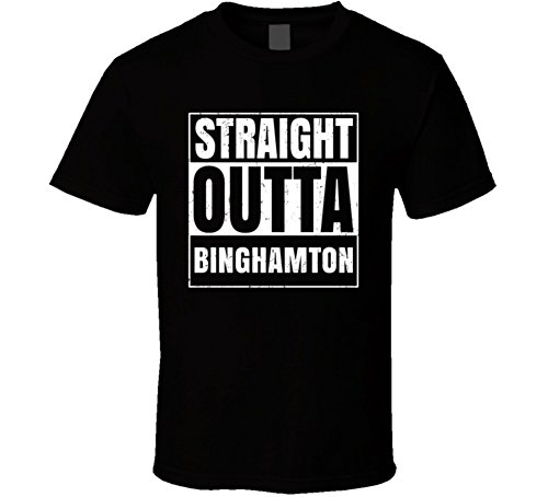 Binghamton University College Straight Outta School Cool T Shirt S Black