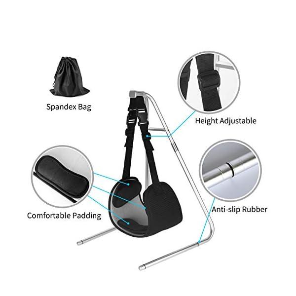 Hamac de Cou, Traction Cervicale pour Douleur au Cou Soulagement Cervicale Portable avec Support Amovible pour…