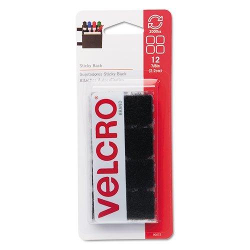 VEK90072 Sticky Back Fastener Squares Strips
