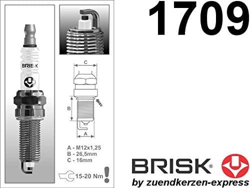 BRISK Super QR15LC-1 1709 Z/ündkerzen 4 St/ück