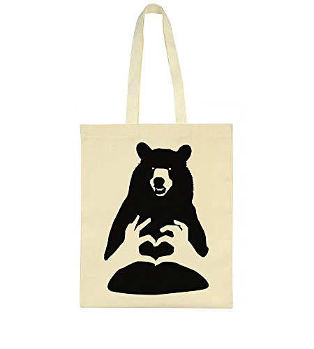 Tote Love Bag Bear Hand Sign 1tqSqdx