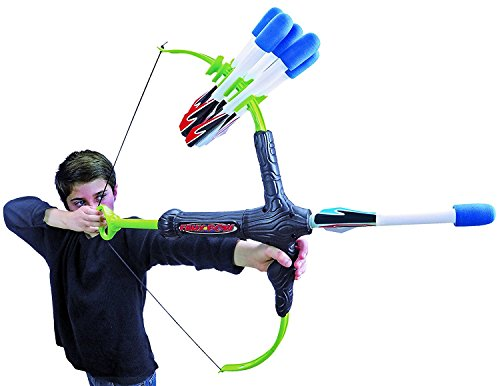 Indian Hunter Kit (Faux Bow 3 - Shoots Over 100 Feet - Foam Bow & Arrow Archery Set)