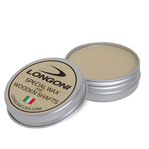 LONGONI Special WAX for Wooden Pool Cue Shafts New formula 1 oz