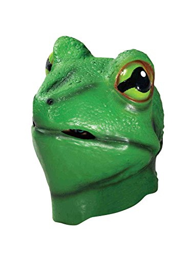 Forum Novelties Men's Deluxe Latex Frog Mask, Green, One Size]()