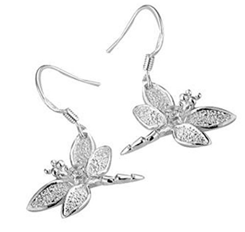 Boucles d'oreilles libéllules plaque argent