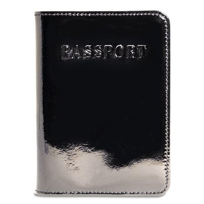Blk Patent Leather Bag (Patent Leather Passport Cover)