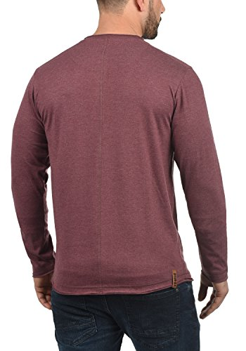 Red nbsp; solid Taoki À t Homme 8985 Melange Longues Manches shirt Wine xzxw6ag