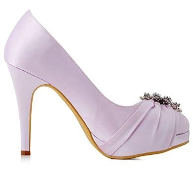 Zapato de fiesta malva con plataforma - Elegantpark