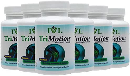 IVL TriMotion Joint Health Support Supplement, 60 Capsules per Bottle (Pack of 6)