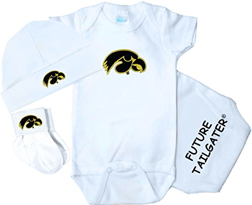 Iowa Hawkeye Baby Clothes - Future Tailgater Iowa Hawkeyes 3 Piece Baby Clothing Set (Newborn)