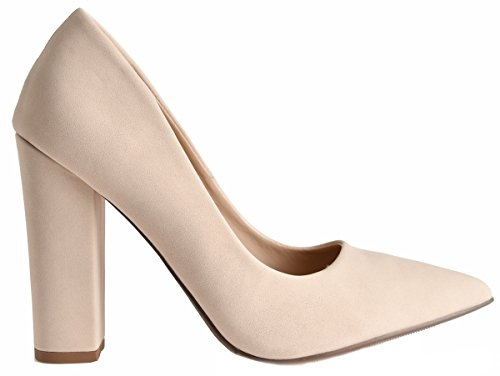 Toe Heel Pointy Have Chunky Wrapped High Nubuck Lust Women's Dress Pointed Pumps Pauline Nude Aw4n6HwqCX