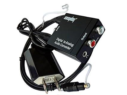 easyday Digital óptico coaxial S/PDIF Toslink SPDIF coaxial a analógico RCA L/R