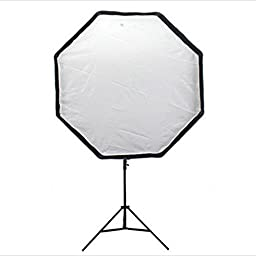 EACHSHOT Portable Octagon Softbox 80cm/31.5in Umbrella Brolly Reflector Flash light Softbox for Studio Photo Flash Speedlight