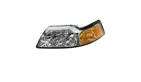 pair Fits 00-07 Ford Taurus Left /& Right Headlamp Assemblies w//chrome bezel