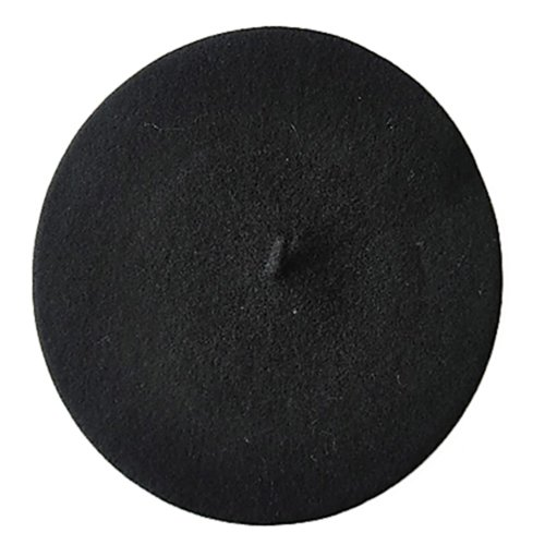 Damenmütze Mütze Baske Baskenmütze Wollmütze Beret Cap Farbauswahl (Schwarz)