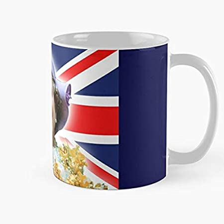 "Taza de café de cerámica Queen Elizabeth Ii Royalty British Family The Royal Royals London Hm Best de 315 ml con texto en inglés ""Eat Food Bite John Best Taza de café de cerámica de 315 ml"