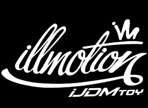 iJDMTOY 7-Inch Graffiti Style illmotion Motion JDM Euro Nation Drift Racing Car Window Bumper Die-Cut Decal Vinyl Sticker ()