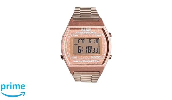 Casio Unisex Classic B640WC-5AVT Vintage Watch Rose Gold: Amazon.es: Relojes