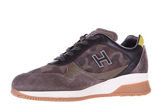 Hogan Sneakers Kinder Schuhe Jungen Kinderschuhe Wildleder Braun