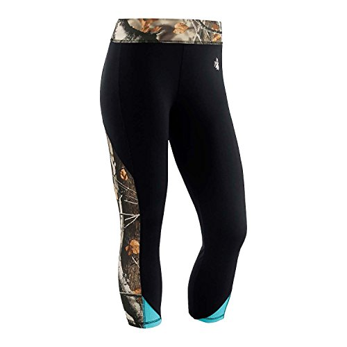 Legendary Whitetails Womens Full Range Capri Pants Black X-Large