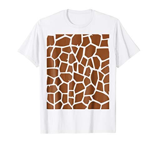 Mens Giraffe Print - Easy Halloween Costume Idea - Tee Shirt Large White ()