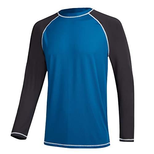 MILANKERR Langarmshirt Herren Rushgard Langarm UV Shutz Shirt Männer Langärmliges Funktionsshirt zum Surfen Laufen Angeln Wandern