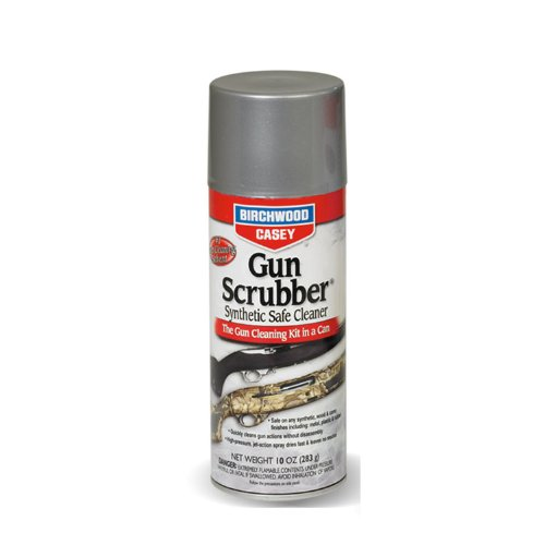 Birchwood Casey Gun Scrubber Synthetic Safe Cleaner, Aerosol Spray, 10 oz., Outdoor Stuffs