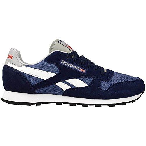 Reebok Herren Classic Sport Clean Laufschuhe Blau, Weiß, Grau, Rot (Cllg Navy / Mdnght Blue / White / Tingry / Pwred)