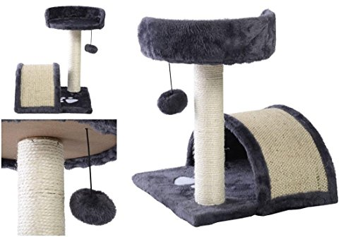 Superior Popular 18″ Cat Tree Kittens Pet Play Toy House Fun Activities Color Gray 41ZUyU Wf6L