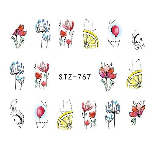 - I'll NEVER BE HER 1pc Black Flower Vine Nail Water Sticker Leaf Lace Design Slider Nail Art Decal Beauty Foils Decoration,STZ767