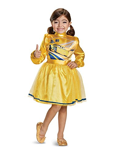 (Cars 3 Cruz Deluxe Toddler Costume, Yellow, Small)